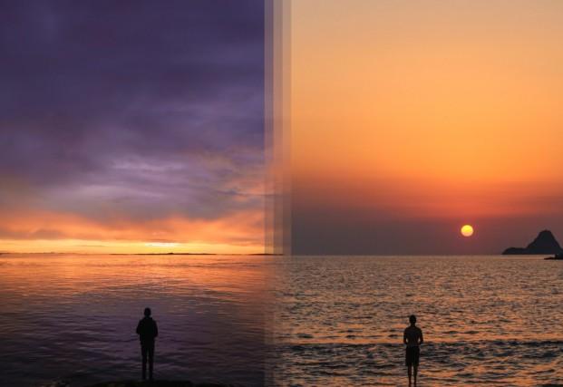 Alba sull'isola di Vancouver in Canada vs l'alba sull'isola di Poros in Grecia