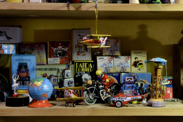 Onkel Philipps espone giocattoli dell'ex DDR.