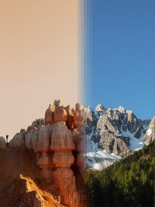 Bryce Canyon negliUsa vs le Dolomiti inSudtirolo