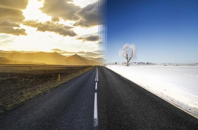Estate inIslanda vs invernoin Germania