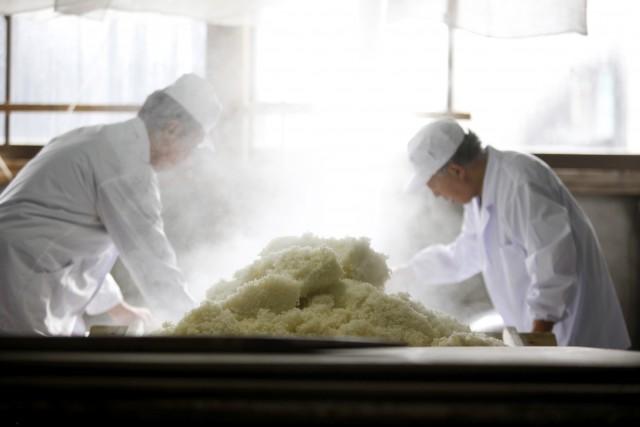 Nei dintorni di Nomi, altri laboratori sono dedicati alla lavorazione del sakè.