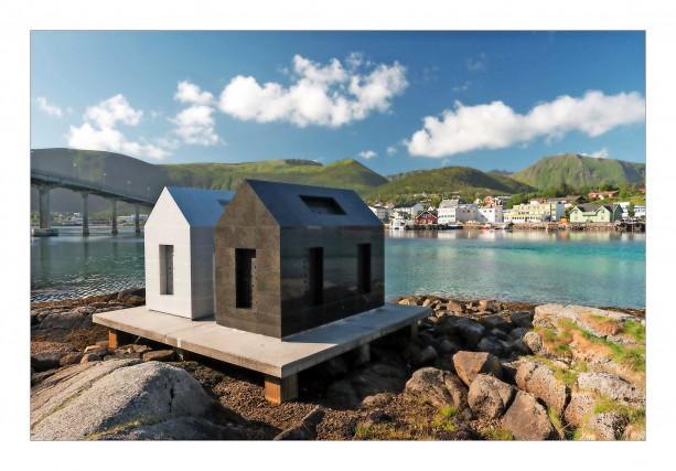 Days and Nights, opera del turco Sarkis, si affaccia sul mare diHadsel, nelle isole Vesterålen.