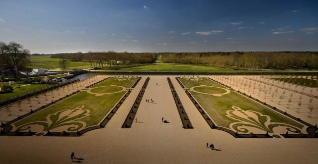 I giardini di Chambord furonorealizzati solamente nel 1734 e rimaserointatti fino a dopo la Prima Guerra Mondiale.