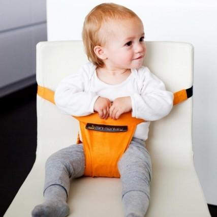 ConMinichair di Minimonkey qualsiasi sedia diventa una seduta sicura per i bambini. Perfetta per chi si sposta molto in vacanza