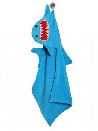 Per uscire dall'acqua non fannoi capricci i bambini che sanno di essere avvolti nell'asciugamano personalizzato di Sherman lo Squalo