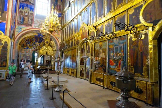 La cattedrale della Natività nel Kremlino.