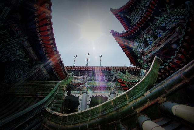 Una Moschea orientaleggiante a Lanzhou