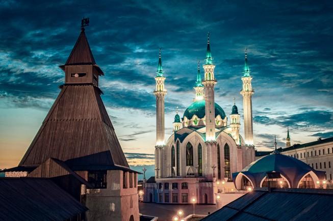 Russia. Tatarstan. Kazan Kremlin. Mosque Kul Sharif.