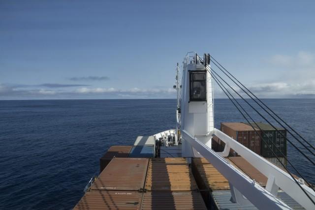 La nave in viaggionell'Oceano Atlantico