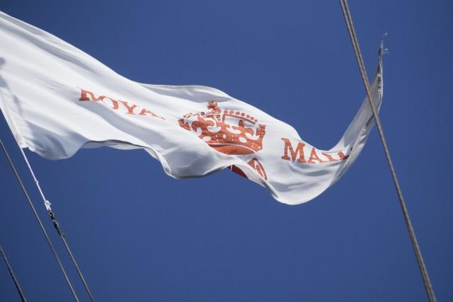 La bandiera del servizio postale di sua maestà