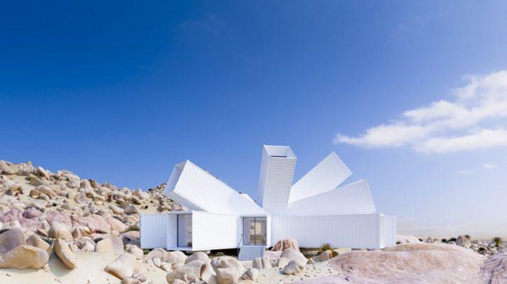Foto La casa a forma di rosa del deserto