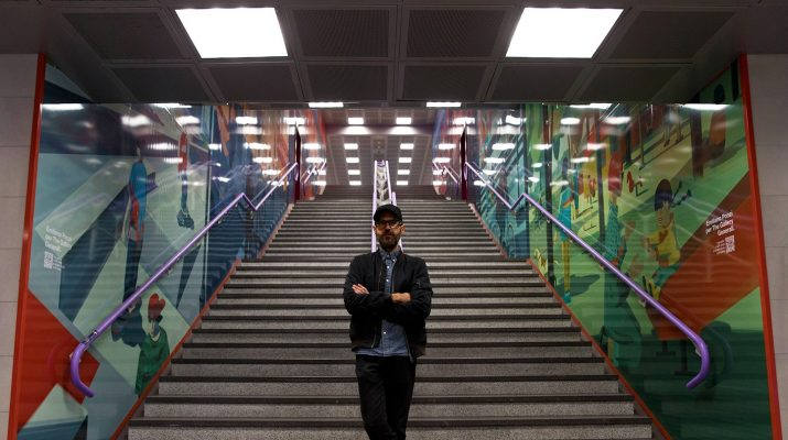 Foto Milano: i murales di Emiliano Ponzi a City Life