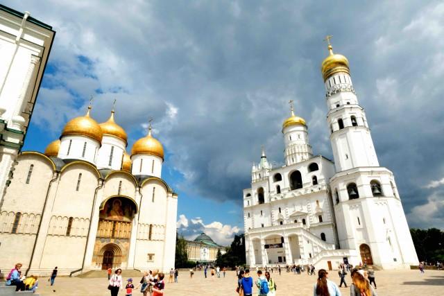 La piazza delle Cattedrali, nel Cremlino.