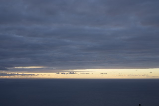 Tramonto sull'Oceano Atlantico