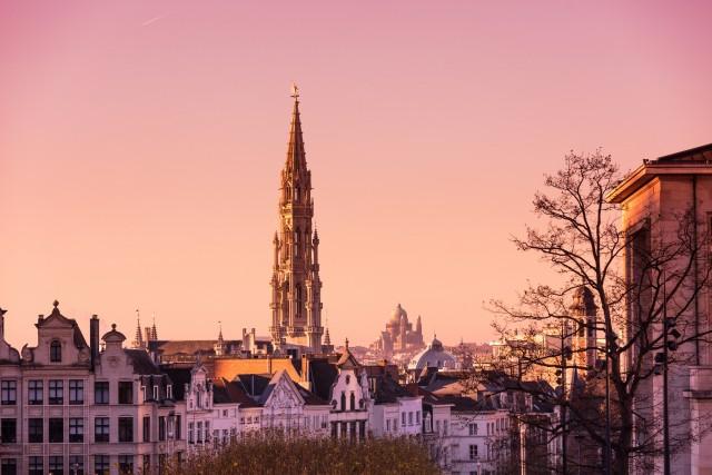 Bruxelles regala anche piacevoli scorci romantici, soprattutto poco prima del calar del sole quando nelle belle giornata invernali si colora di rosa.