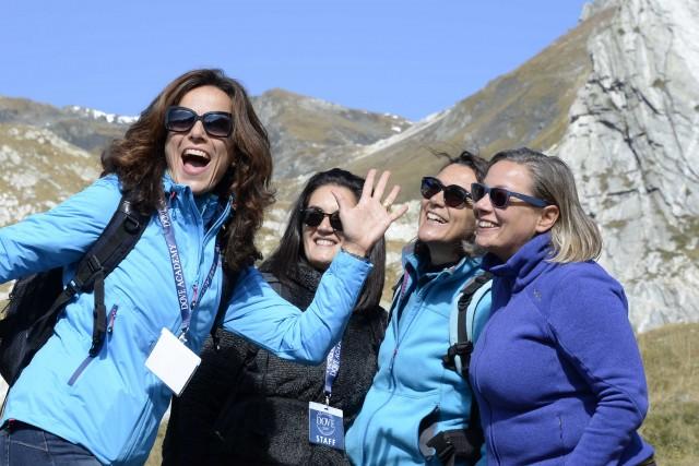 Uno dei momenti di Dove Academy in Valle d'Aosta.