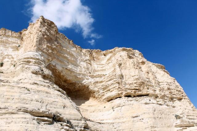 Pareti a strapiombo al canyon di Ein Avdat,nella valle del fiume Zin.