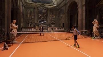 A Milano puoi giocare a tennis dentro una stupenda chiesa del Cinquecento