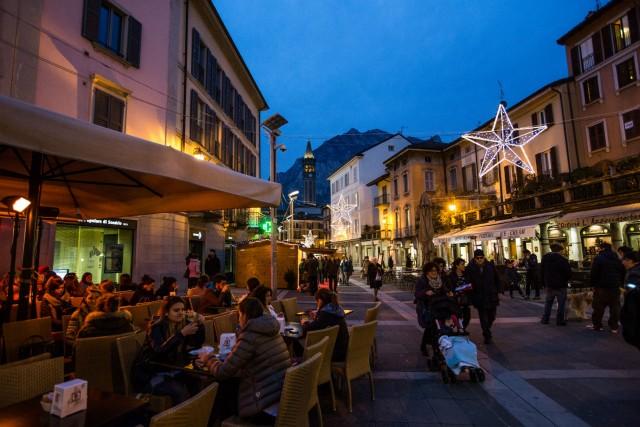 Uno scorcio del mercatino di natale a Lecco