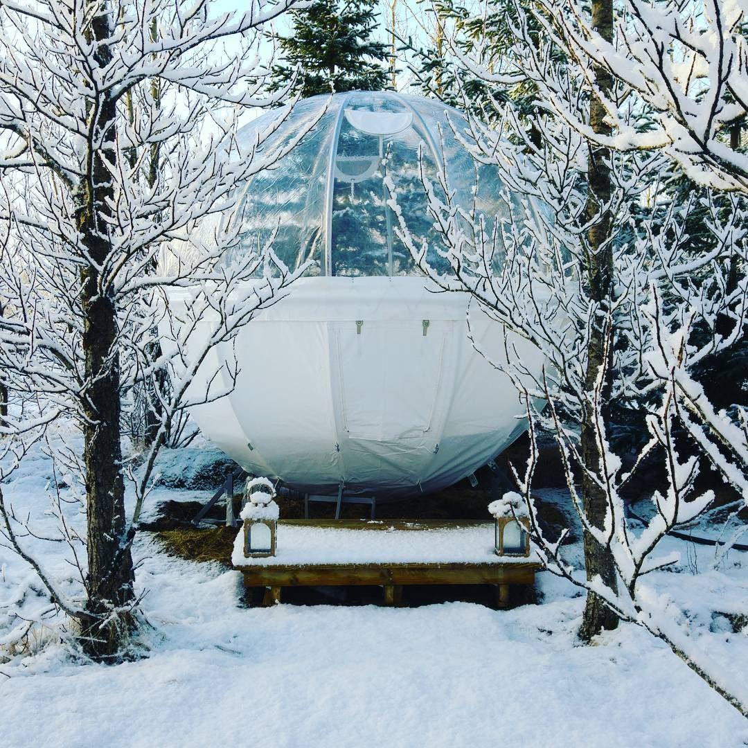 Una notte in una bolla, in Islanda