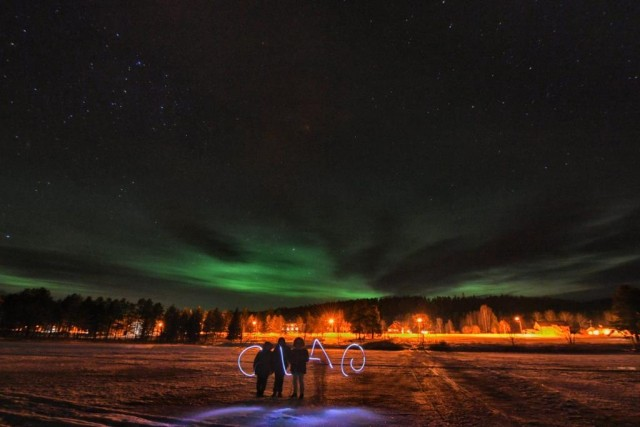 Con un po' di fortuna, nelle notti della Lapponia svedese, si può vedere l'aurora boreale (ph Edoardo Miola)