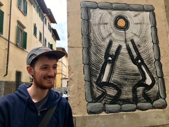 Matteo Bidini, proprietario della Street Levels Gallery di Firenze. Ha solo 26 anni ma è già un profondo conoscitore della street art (foto Carlotta Lombardo)