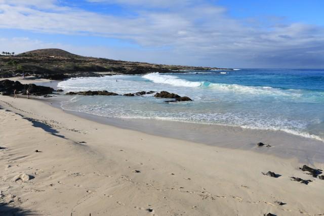 Manini'owali beach, di fine sabbia bianca è una delle perle di Kua Bay,aKona nord.