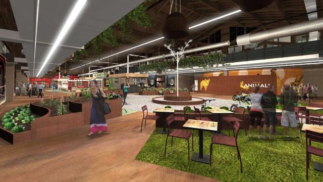 All'interno di Fico sono presenti 45 punti di ristoro di cucina regionale e di street food.