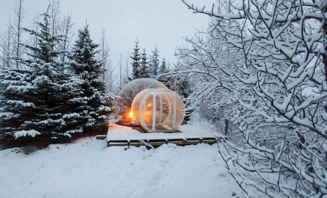 """Le bolle (cinque in tutto) sono situate presso l'hotel """"5 Million Star"""""""