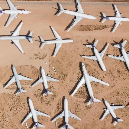 La maggior parte dei cimiteri di aerei si trova nei deserti del sud-ovest degliUsa, tra Arizona, Nuovo Messico e California