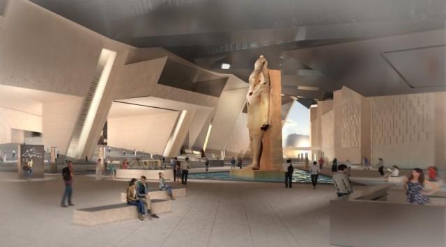 Nell'atrio i visitatori verranno accolti da una statua di Ramses II alta undici metri