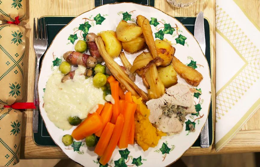 Il pranzo di Natale all'estero