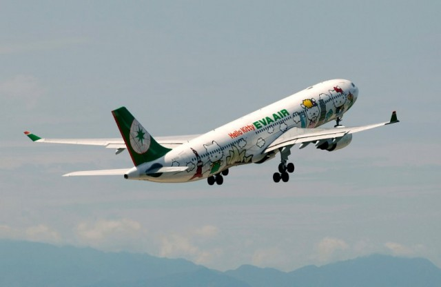 Subito dietro: la taiwanese EVA Air