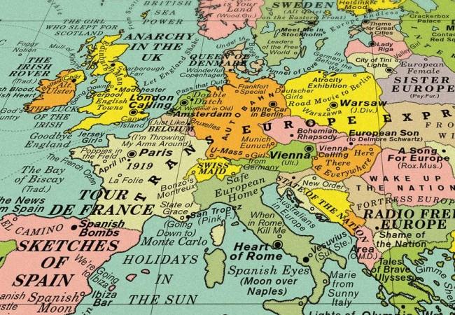 World song map la mappa delle pi belle canzoni al mondo - Mappa del mondo contorno ks2 ...