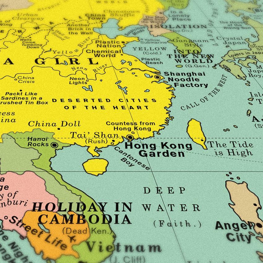 Ecco la mappa delle più belle canzoni al mondo
