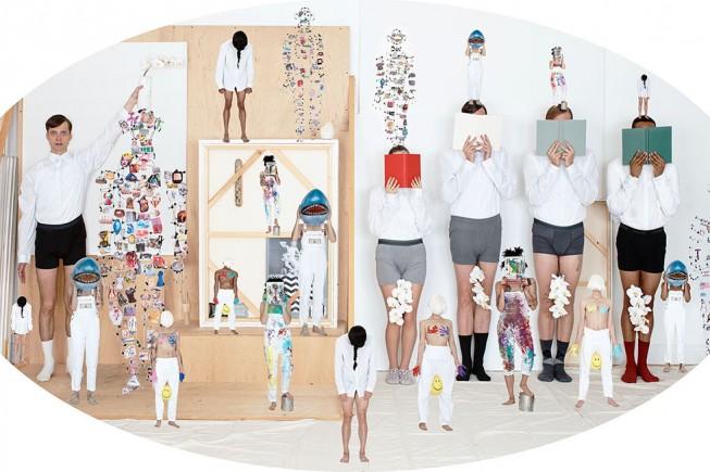 Una delle opere di Olaf Breuning in mostra