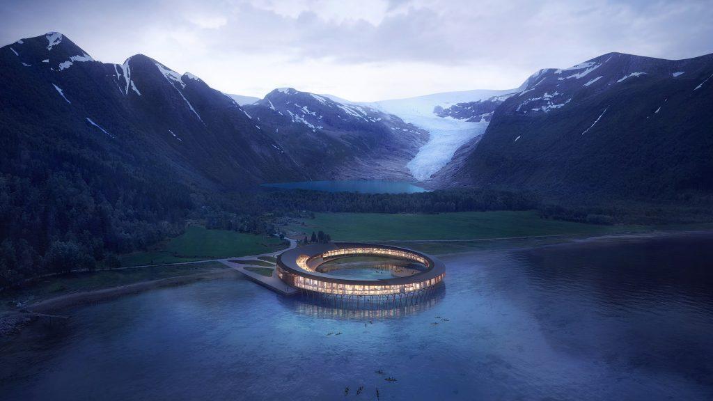 """Un Ufo in Norvegia: l'hotel Svart ad """"energia positiva"""""""