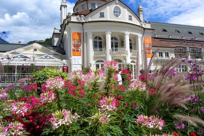 Meran, Italy - July 26,2011: the Kurhaus of Meran in South Tyrol which is a famous building in the town and a symbol of it.