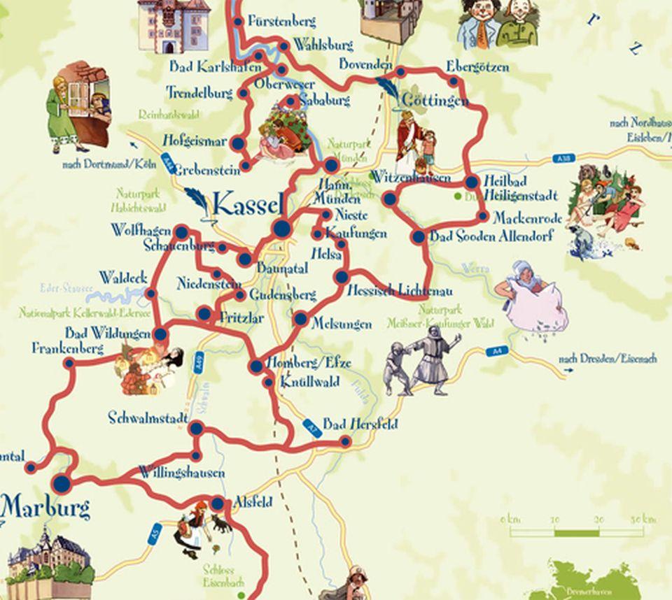 1 Strada tedesca delle Fiabe -Mappa