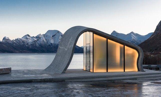 Norvegia ecco il bagno pubblico panoramico pi bello del mondo - Il bagno piu bello del mondo ...