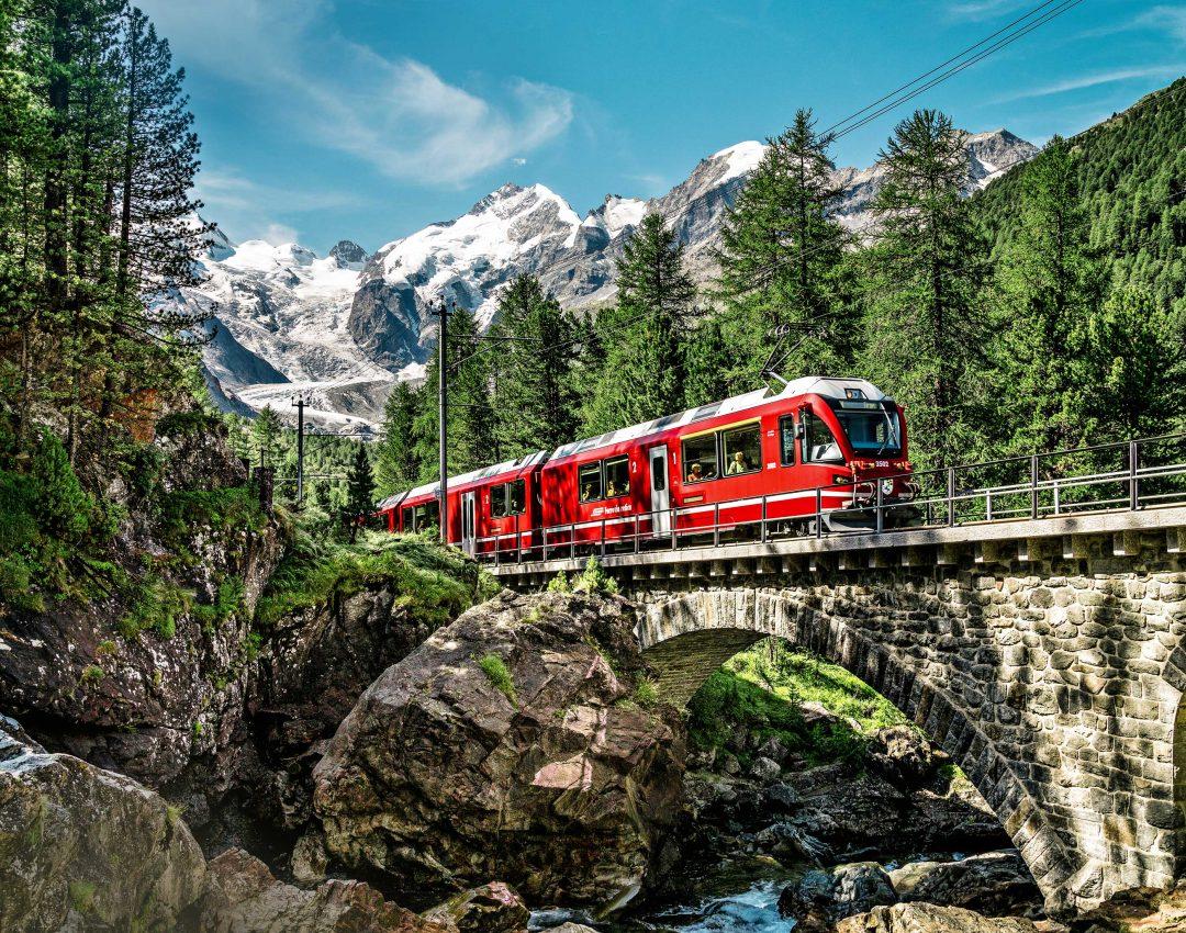 Svizzera in treno: da Lucerna a St. Moritz e Tirano