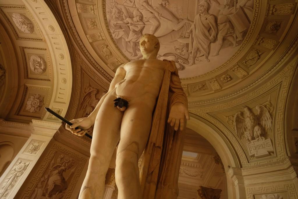 La statua di Tiberio - Foto di Carlo Rotondo.
