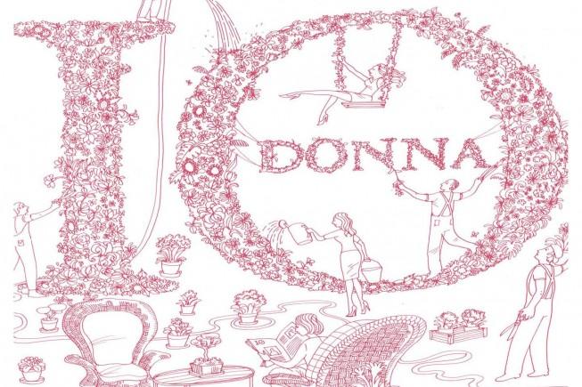 Logo floreale IO donna