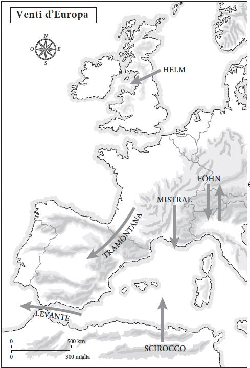 Venti dell'Europa Ovest.
