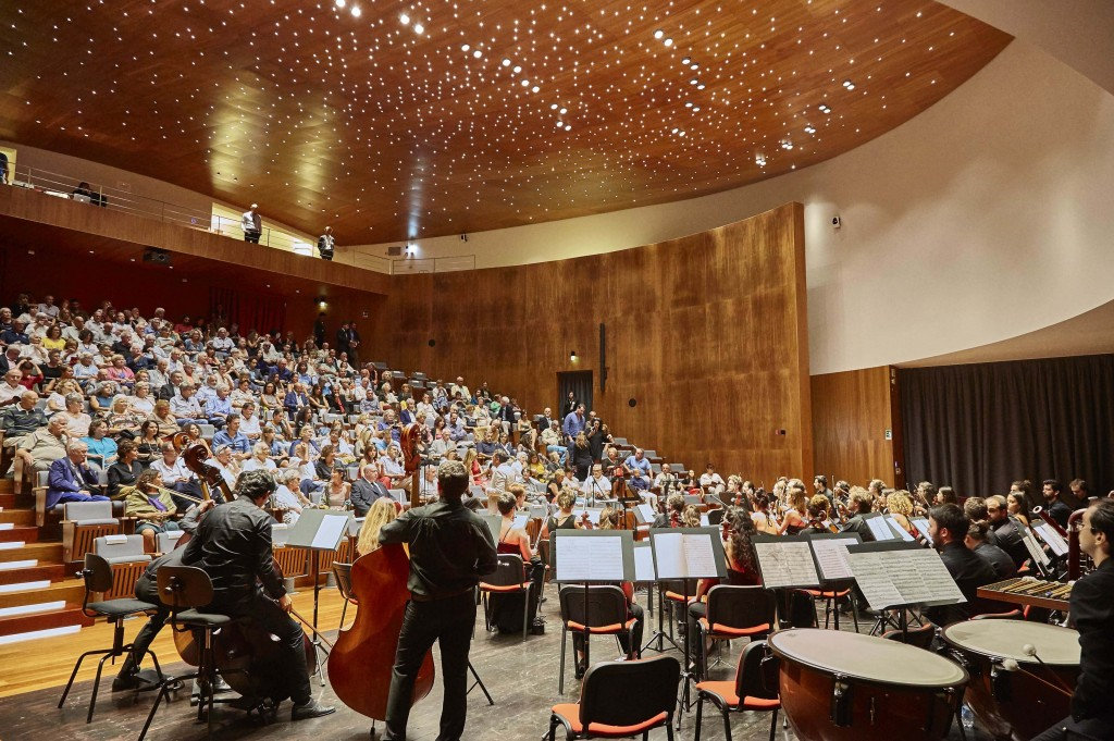 Amiata Piano Festival: la sala concerti del Forum Bertarelli di Poggi del Sasso (Cinigiano, Grosseto)