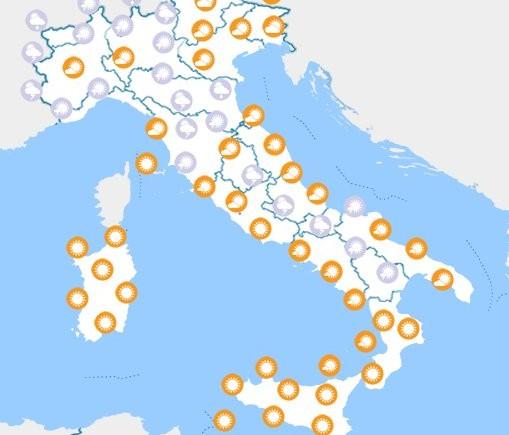 meteo fine settimana italia 14 15 luglio