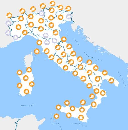 meteo italia fine settimana