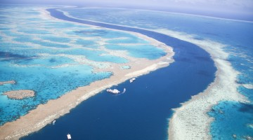 Tidal Channel through the Great Barrier Reef