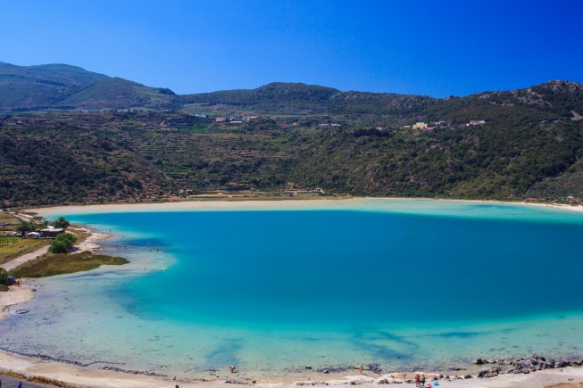 View of Lago di Venere in Pantelleria, Sicily