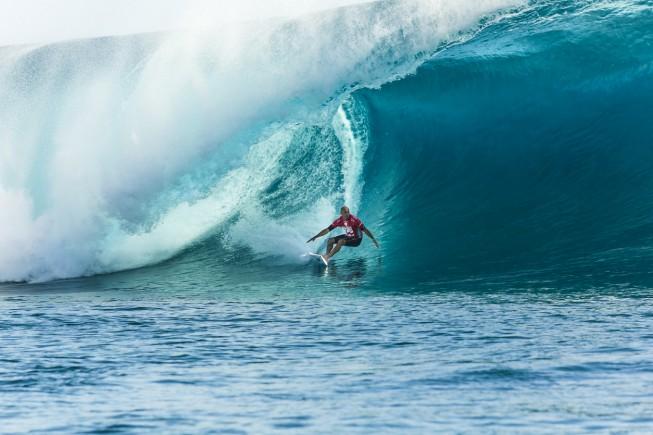 Surfer Kelly Slater Surfing 2014 Billabong Pro Tahiti